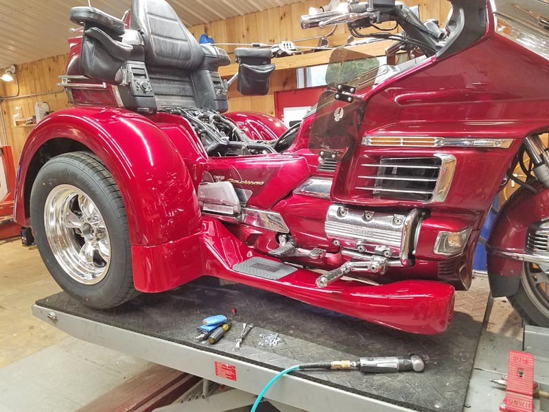 1999 Honda GL 1500 Gold Wing conversion nearly complete