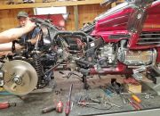1999 Honda GL 1500 Gold Wing conversion under way
