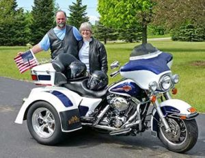 Doug and Lou Ann 2007 Ultra Classic FLHTCU Harley Trike Conversion